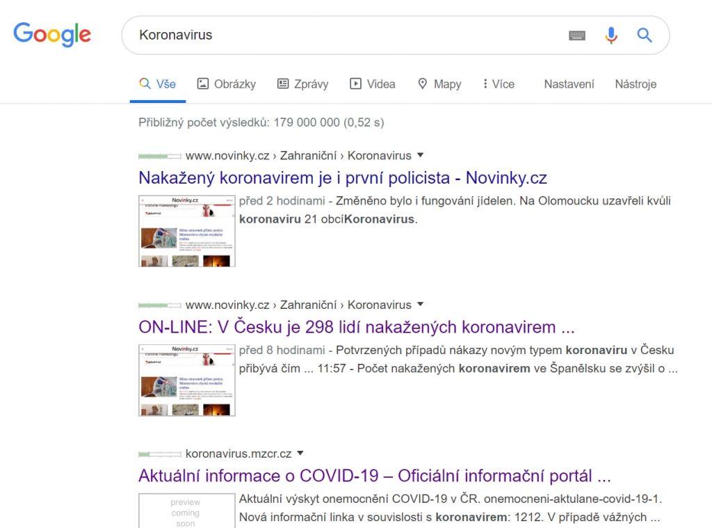 Koronavirus-Google