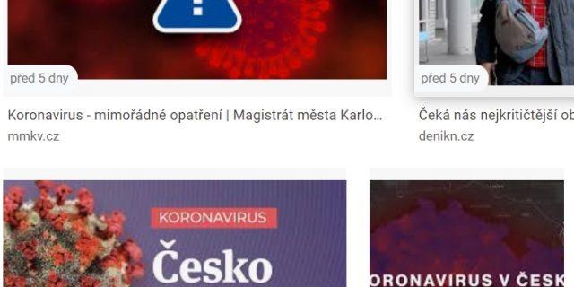 Koronavirus ve vyhledávačích?